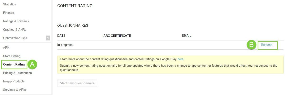 Take Google Play's App Rating Questionnaire – Help Center