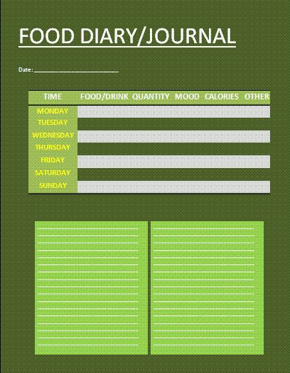 Food Journal Template | Free Business Templates