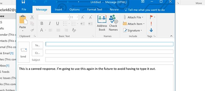 Save Email Templates to Use as Canned Messages in Outlook