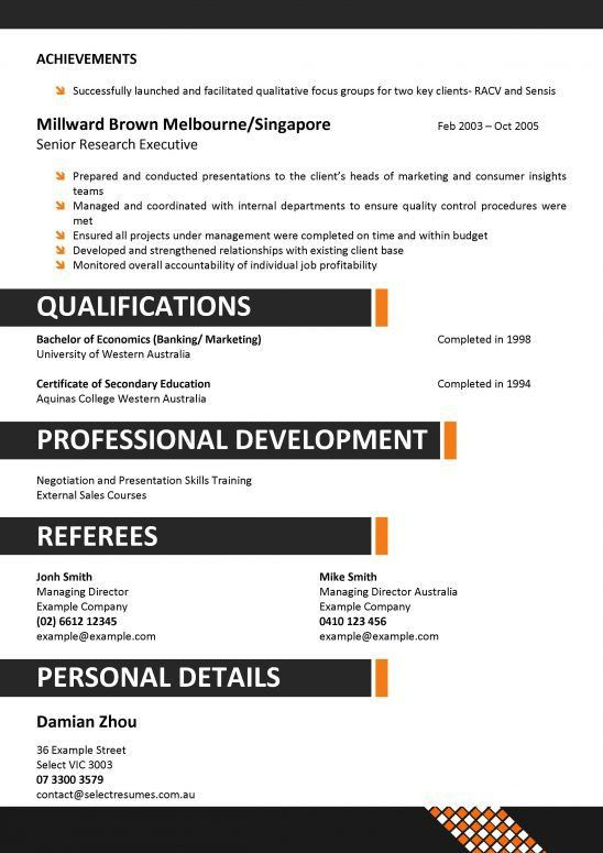 Resume Example For Hospitality - Templates