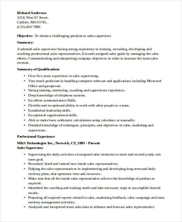 shift supervisor resume supervisor resume sample shift supervisor ...