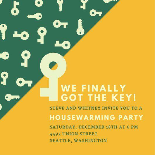 Key Housewarming Party Invitation - Templates by Canva