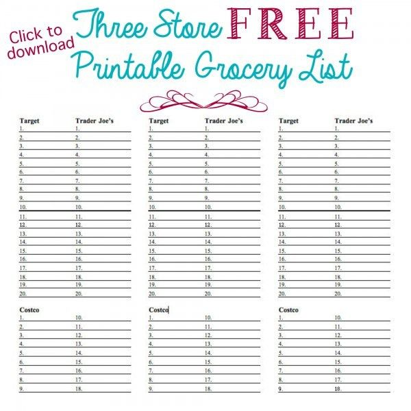 Organized Grocery List - 3 FREE printable templates - Ask Anna