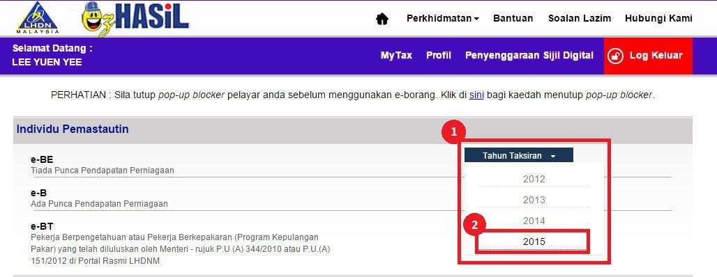 How to File Income Tax in Malaysia Using e-Filing | mr-stingy