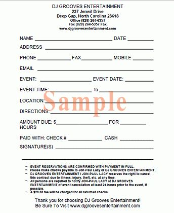 contracts for event planners templates google search. event ...