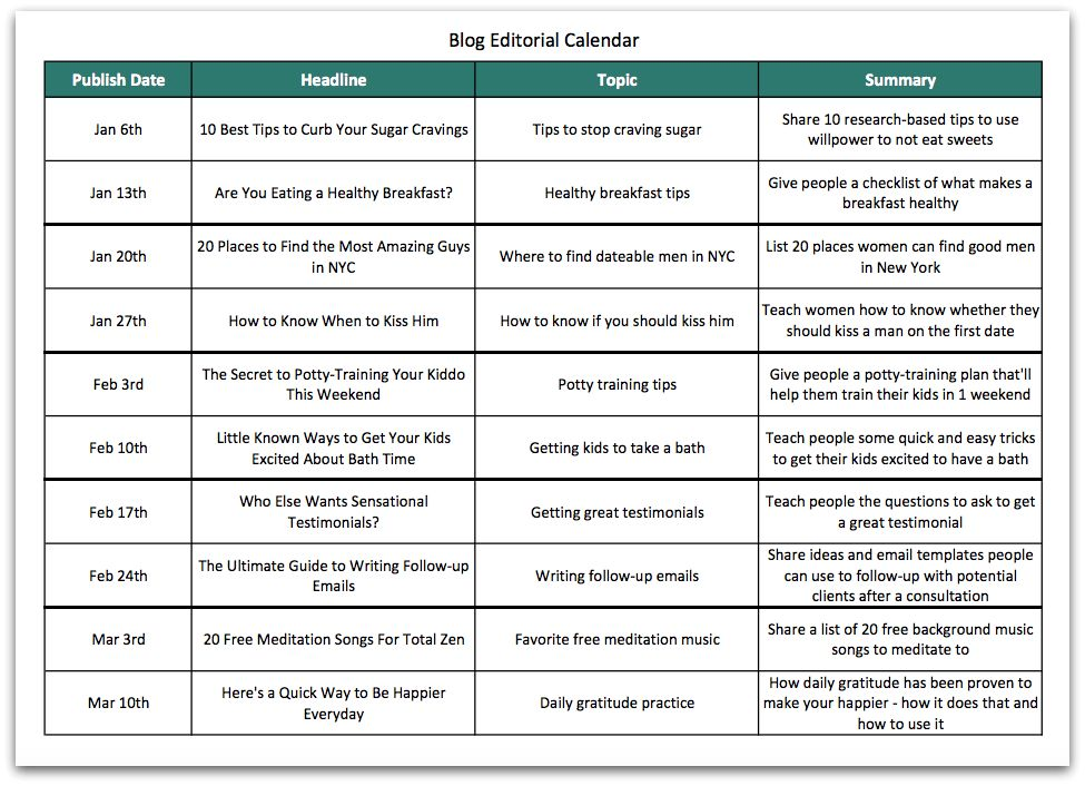 The Quick Guide to Creating a Spectacular Blog Editorial Calendar ...