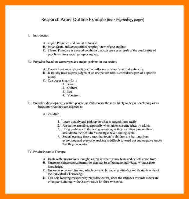 Research Paper Outline. Abstract Research Paper Template Most Part ...