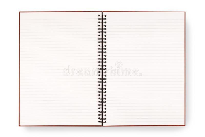 Blank Open Spiral Writing Book Or Notepad, Lined Paper, Isolated ...