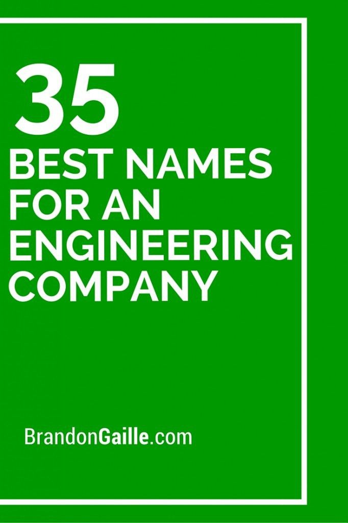 37 Best Names for an Engineering Company | Catchy slogans