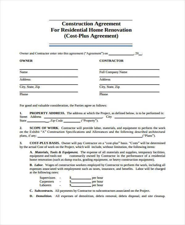 free roofing contract template