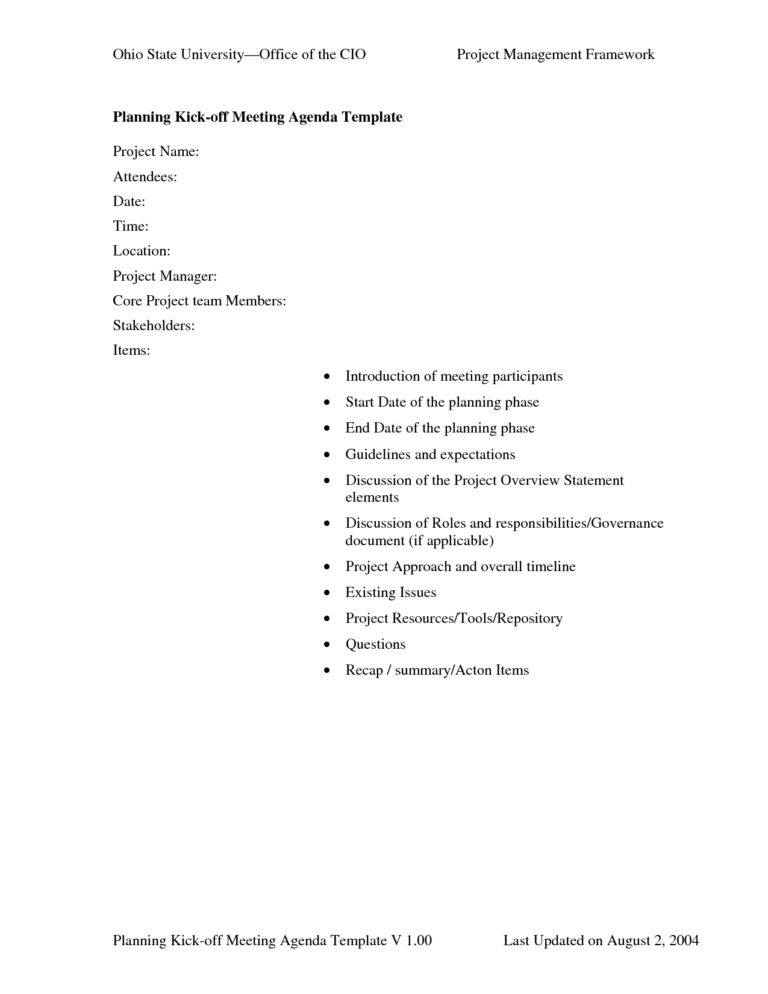 Examples Of Meeting Agendas Templates (6) | Professional Templates