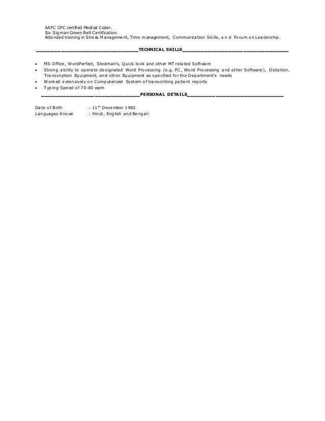 download medical billing and coding resume. medical billing and ...