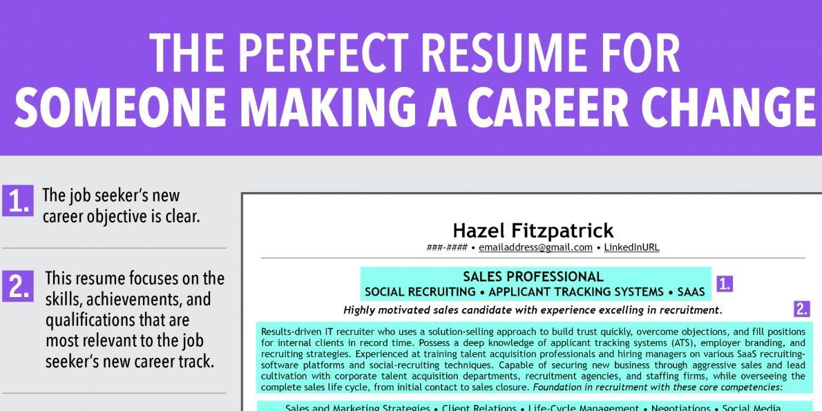 Change Of Career Resume 20 - uxhandy.com