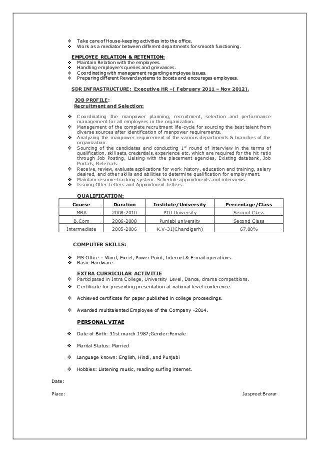 hr generalist resumes hr generalist resume writer sample the