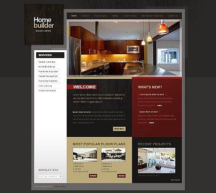 Home Builder Website Template | Template Design