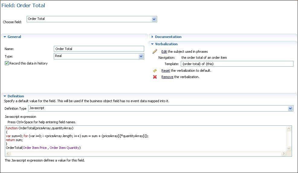 Examples of JavaScript in Event Designer