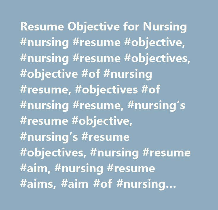 resume objectives nursing free nurse practitioner resume example