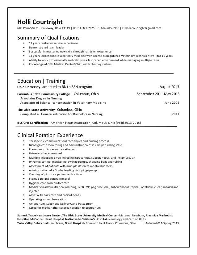 sample resume student resume exle best nursing nursing resume ...