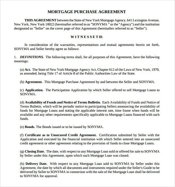 Sample Mortgage Agreement Template - 9+ Free Documents in PDF, Word