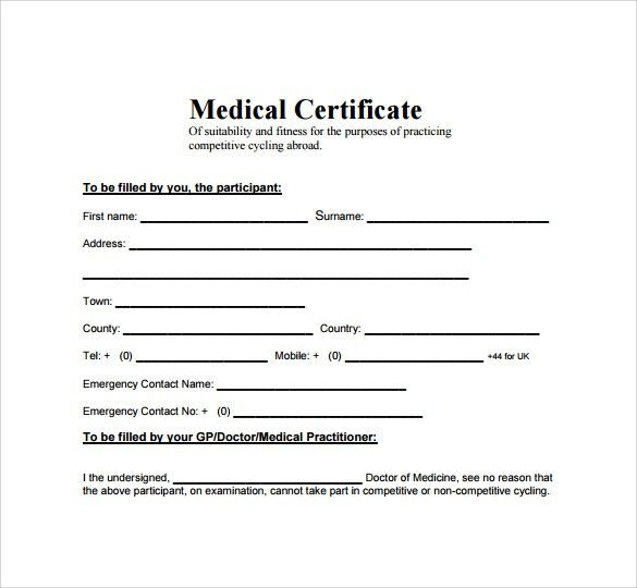 Top 5 Free Medical Certificate Templates - Word Templates, Excel ...