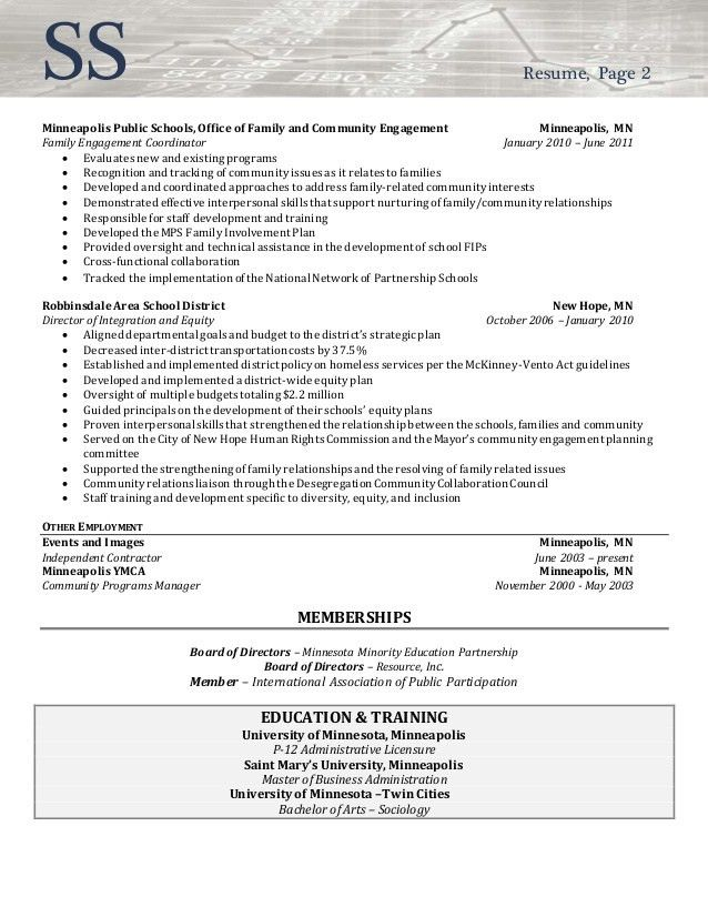 Resume Sample Director of Community Involvement