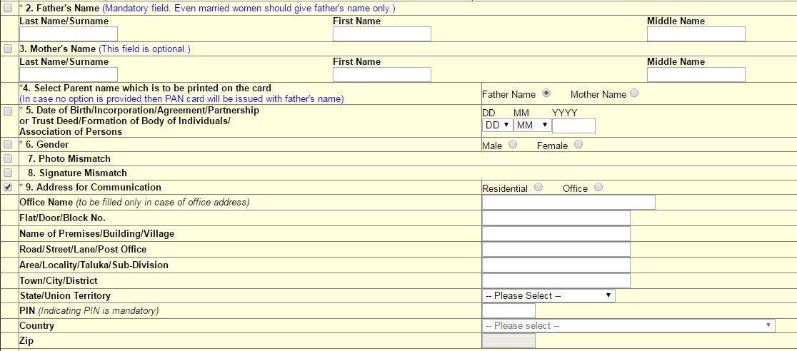 How to Change PAN Card Address /Name/DOB/Photo Online in India ?