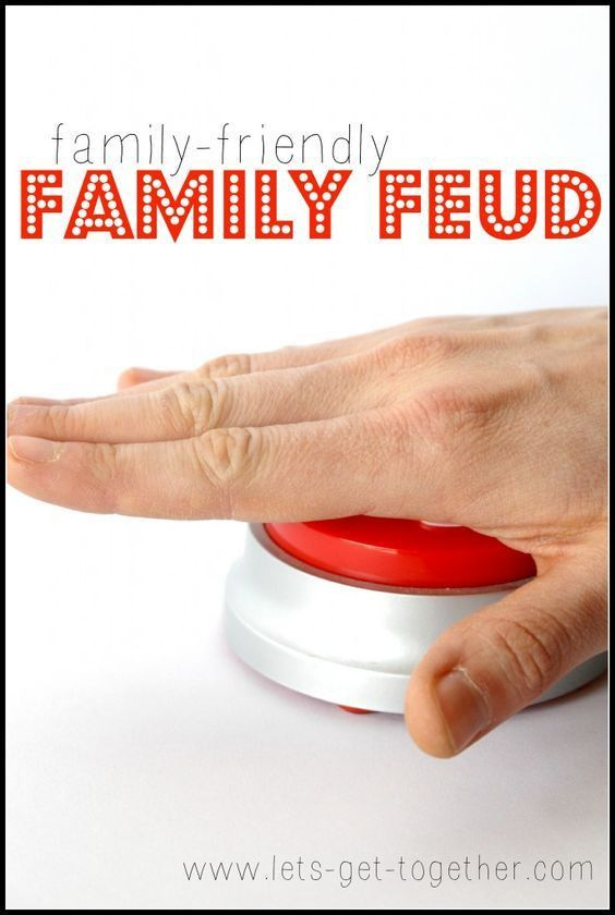 Family-Friendly Family Feud | Family feud, Family reunions and Gaming