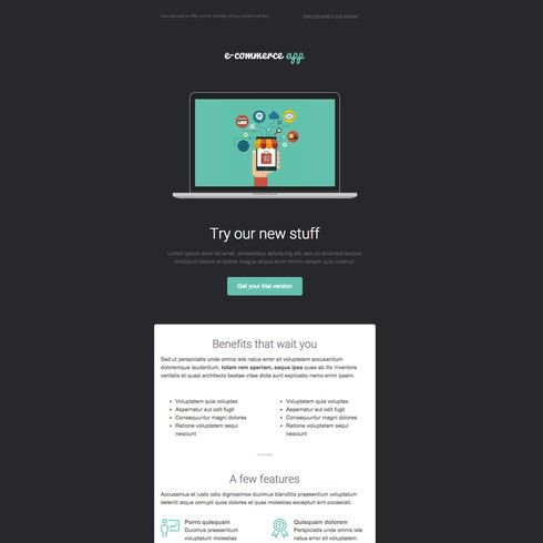 Ecommerce Free Responsive Email Newsletter Template