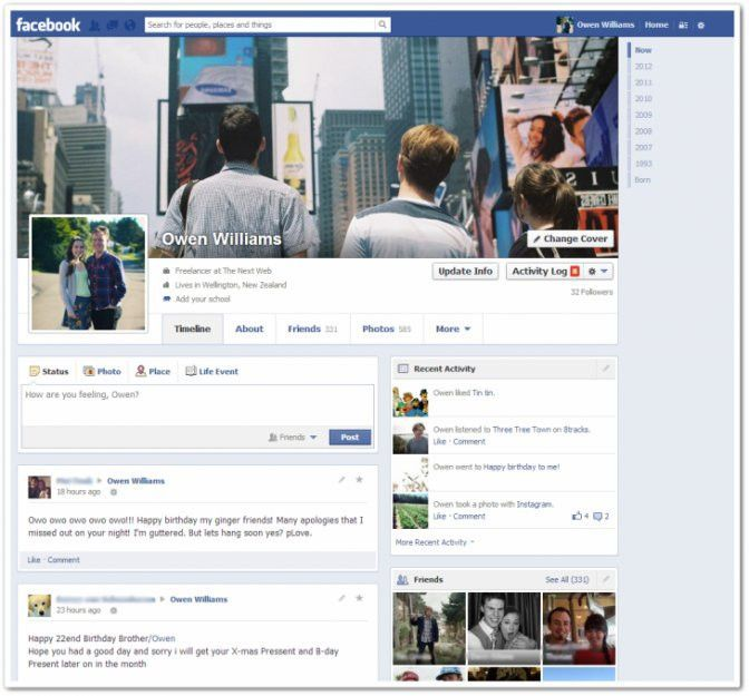 Facebook Testing New Profile Page - Business Insider