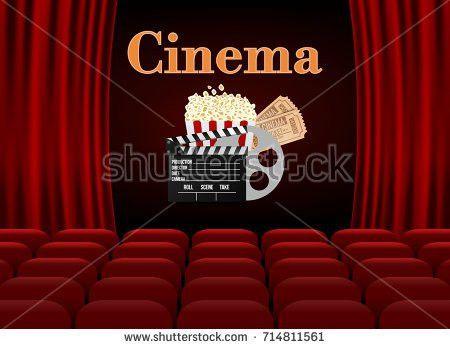 Movie Cinema Premiere Poster Design Vector Stock Vector 524732656 ...