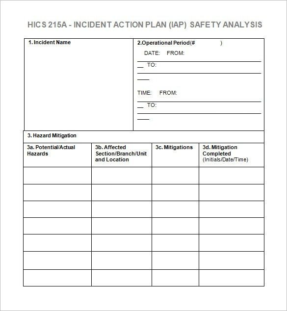 Incident Action Plan Template – 7+ Free Word, Excel, PDF Format ...