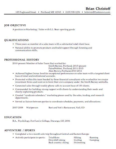 Marvelous Sales Marketing Resume Example | EssayMafia.com