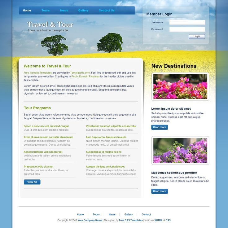 Html With Css Templates. freebie blozzit a free professional html ...
