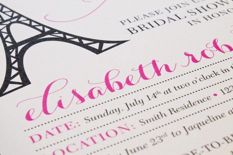 Printable Bridal Shower Invitation + More!