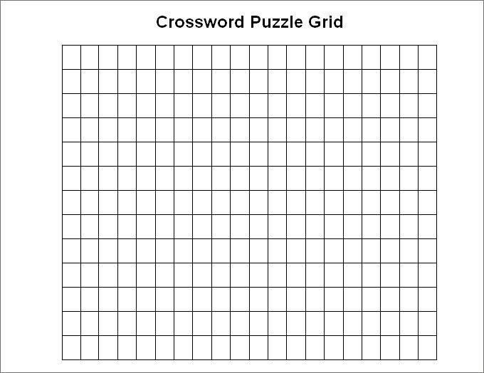 Blank Crossword Template - Crossword Template | Free & Premium ...