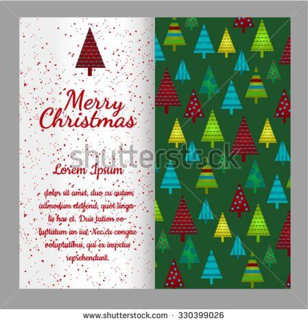 Christmas Card Ornaments Realistic Spruce Pine Stock Vector ...