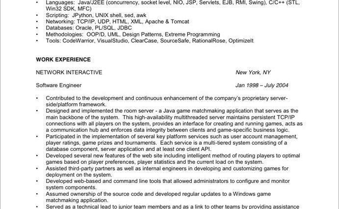 resume objective software developer software engineer resume