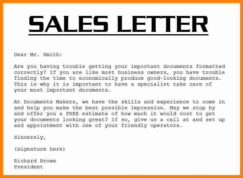 8+ simple sales letter example | buyer resume