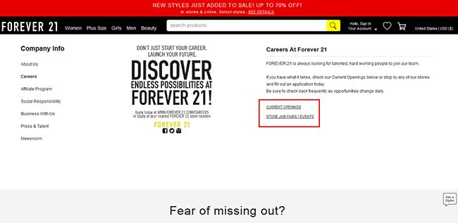 Forever 21 Job Application - Adobe PDF - Apply Online