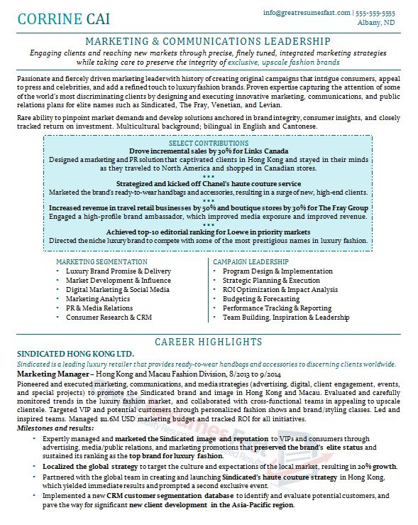 Stunning Great Resumes Fast 3 Executive Resume Samples - Resume ...