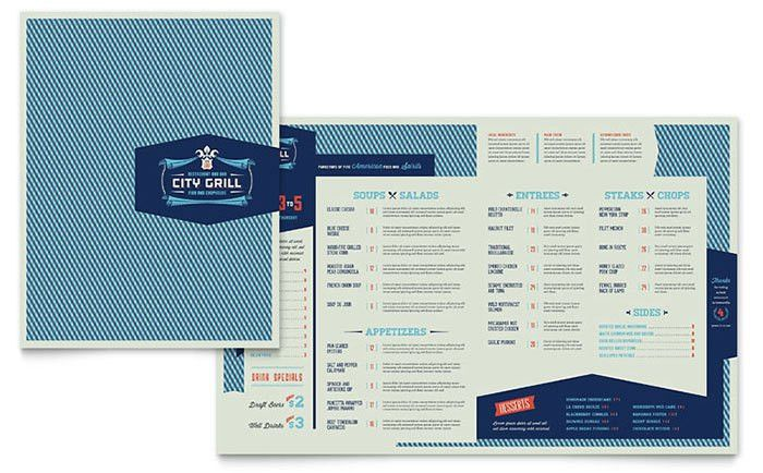 Fine Dining Restaurant Menu Template - Word & Publisher