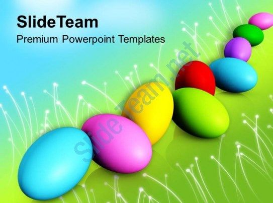 Church Easter Colorful Eggs Spring Festival Powerpoint Templates ...