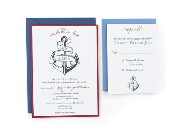 Cards and Pockets - Free Wedding Invitation Templates with RSVP