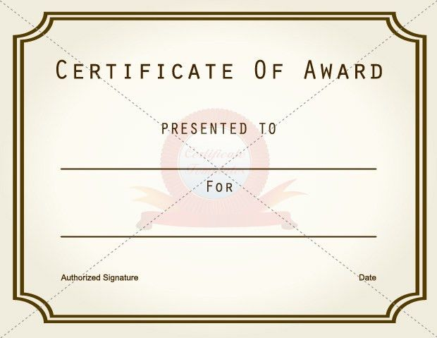 Award Certificate Template. Award Certificate For Participation ...
