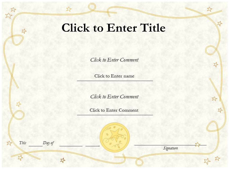 Free Editable Blank Award Certificate Template Example with ...