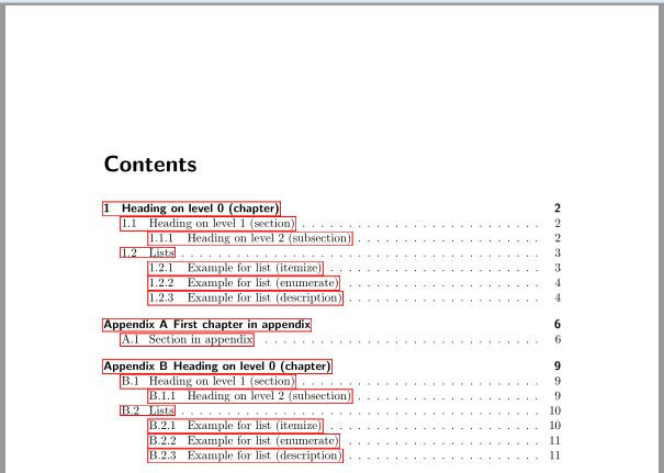 table of contents - Prepend 'Appendix' before 'A' using scrbook ...