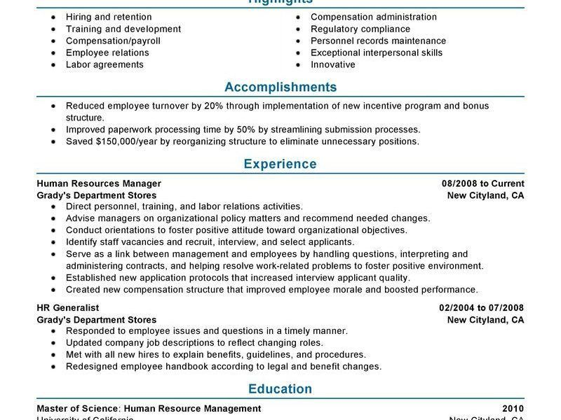 Benefits Manager Resume. hr resume 2 resume for hr executive ...
