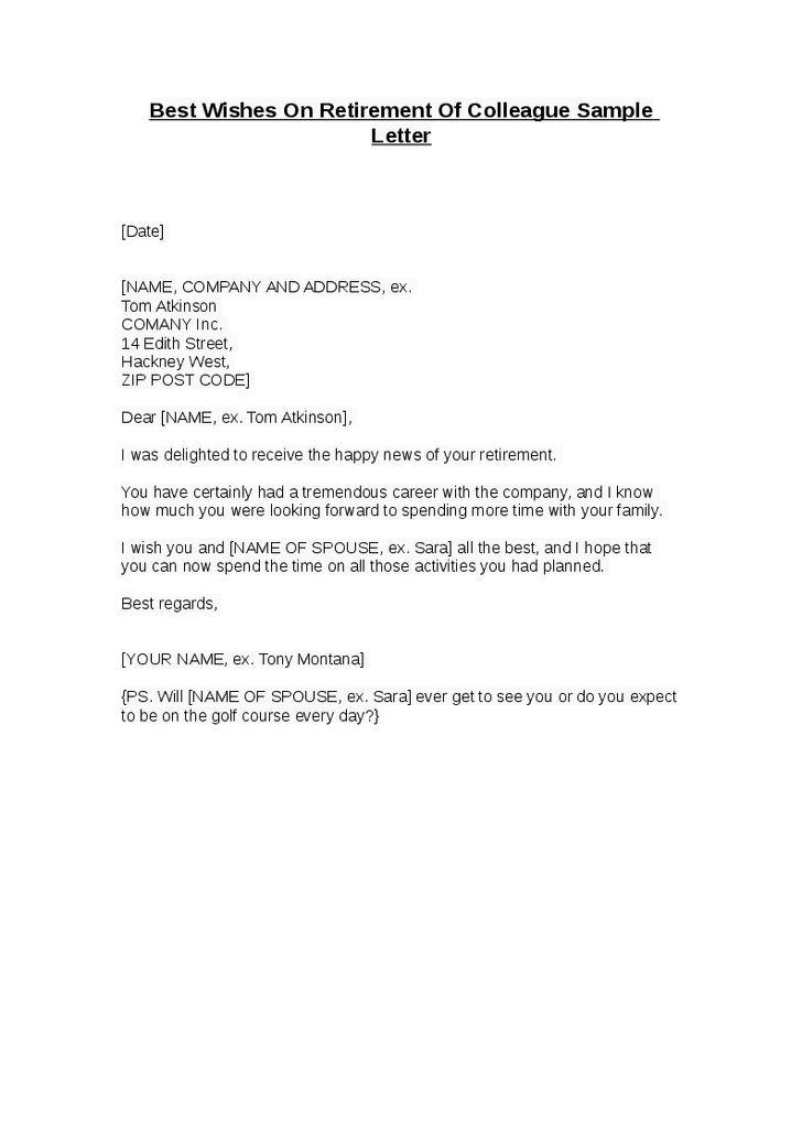 retirement letter examples