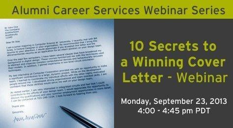 Webinar: 10 Secrets to a Winning cover Letter | UBC Sauder School ...