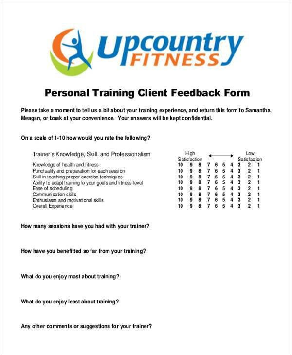 10 Different Client Feedback Forms